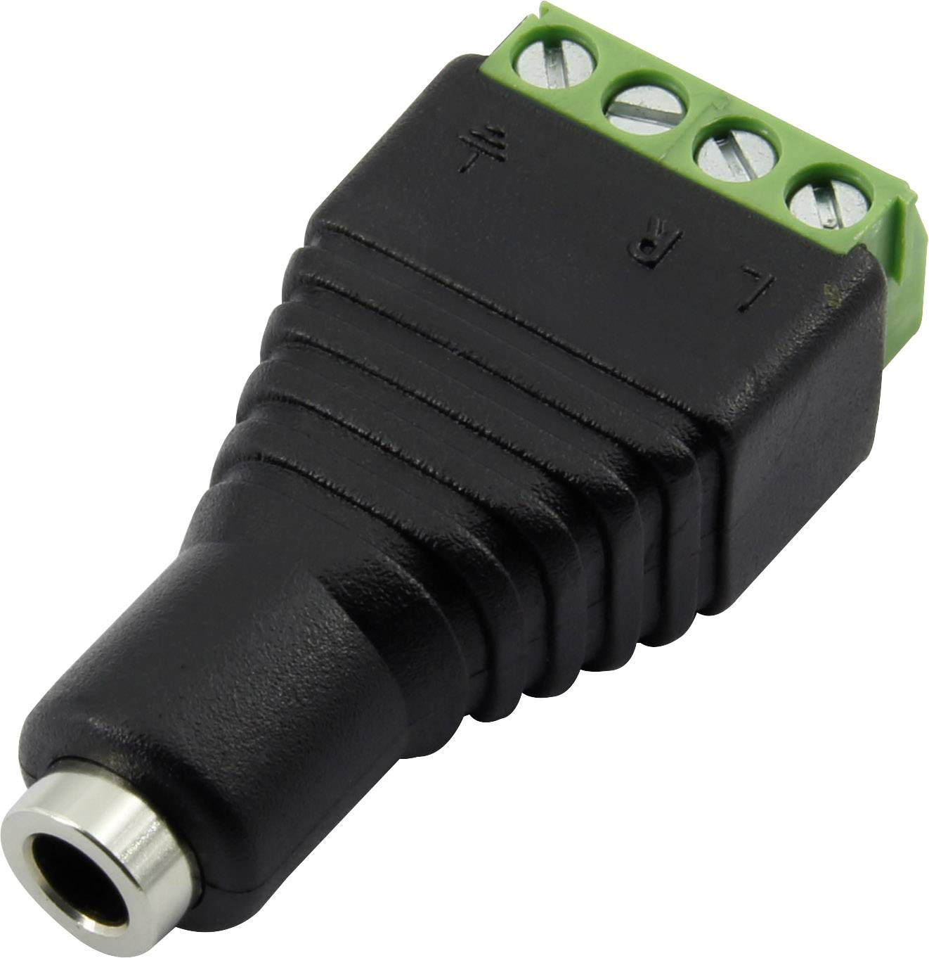 Jack konektor 3.5 mm stereo zásuvka, rovná Conrad Components 93013c1120, počet pinov: 4, čierna, 1 ks