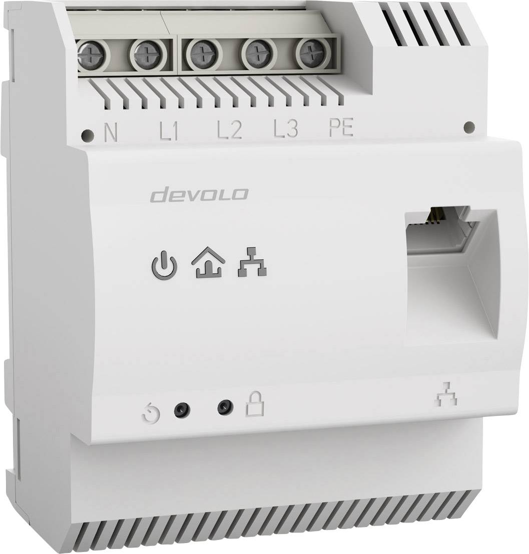 Powerline adaptér na DIN lištu Devolo Business Solutions dLAN® pro 1200 DINrail, 1.2 Gbit/s