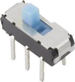Posuvný prepínač TRU COMPONENTS YSS-1210, 6 V/DC, 0.3 A, 2x vyp/zap, 1 ks