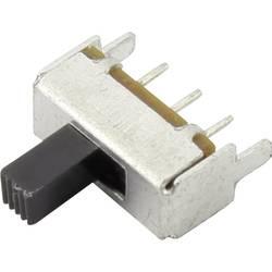 Posuvný přepínač TRU COMPONENTS CSS-1202A, 50 V/DC, 0.3 A, 1x vyp/zap, 1 ks
