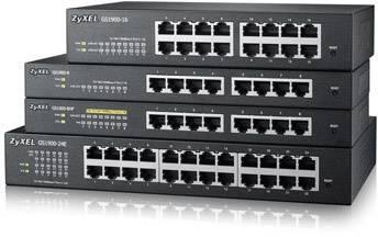 Síťový switch ZyXEL, GS1900-24E, 24 portů, 1 Gbit/s