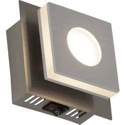 LED nástenné svetlo Brilliant Transit G67410/21, 4 W, teplá biela, niklová, hliník