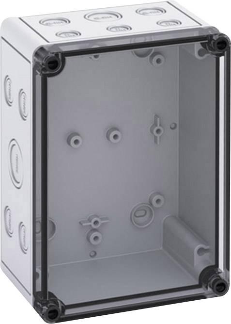 Inštalačná krabička Spelsberg TK PS 1813-9-TM 10601601, (d x š x v) 130 x 180 x 90 mm, polykarbonát, svetlo sivá, 1 ks