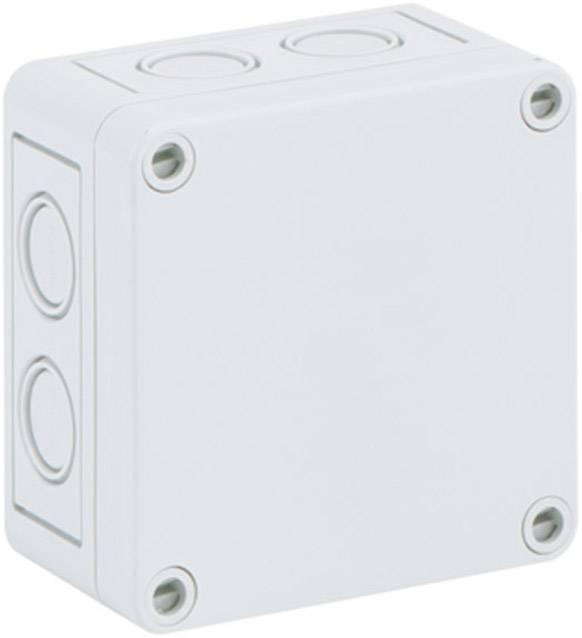 Inštalačná krabička Spelsberg TK PC 99-6-M 12740301, (d x š x v) 94 x 94 x 57 mm, polykarbonát, svetlo sivá, 1 ks