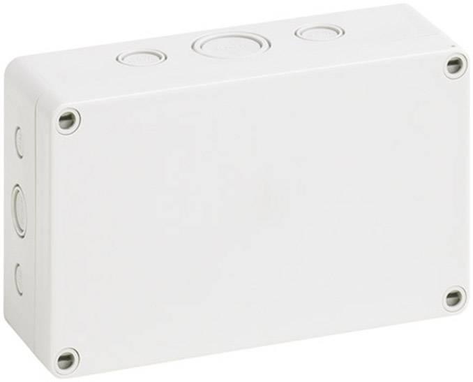 Inštalačná krabička Spelsberg TK PC 1811-6F-M 12741401, (d x š x v) 110 x 180 x 63 mm, polykarbonát, svetlo sivá, 1 ks