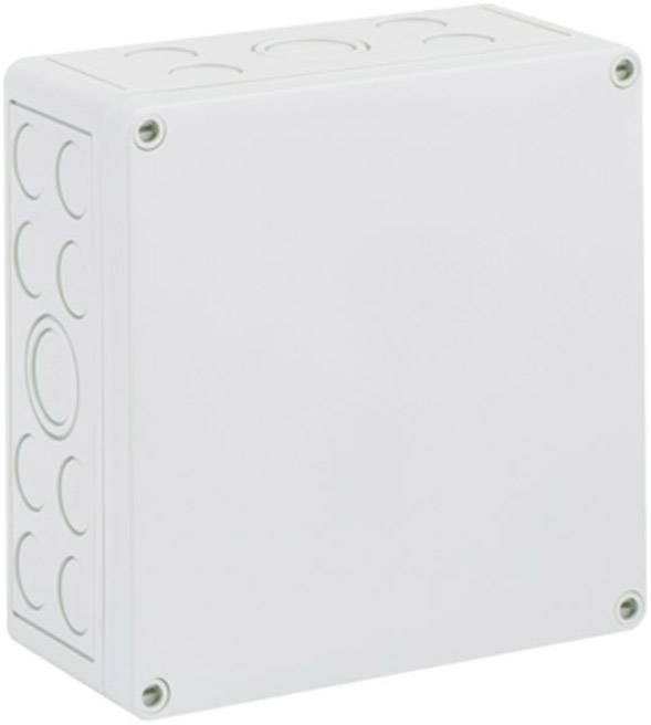 Inštalačná krabička Spelsberg TK PC 1818-9-M 12740701, (d x š x v) 180 x 182 x 90 mm, polykarbonát, svetlo sivá, 1 ks