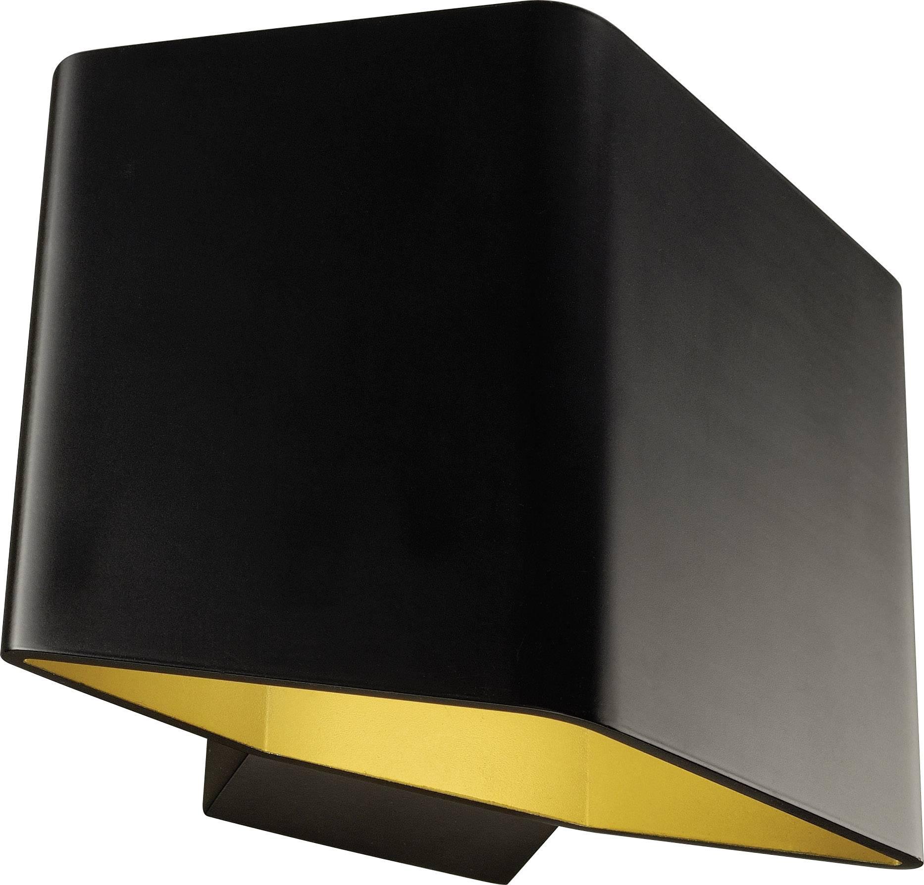 LED nástěnné světlo SLV Cariso 1 151700, 7.6 W, teplá bílá, černá