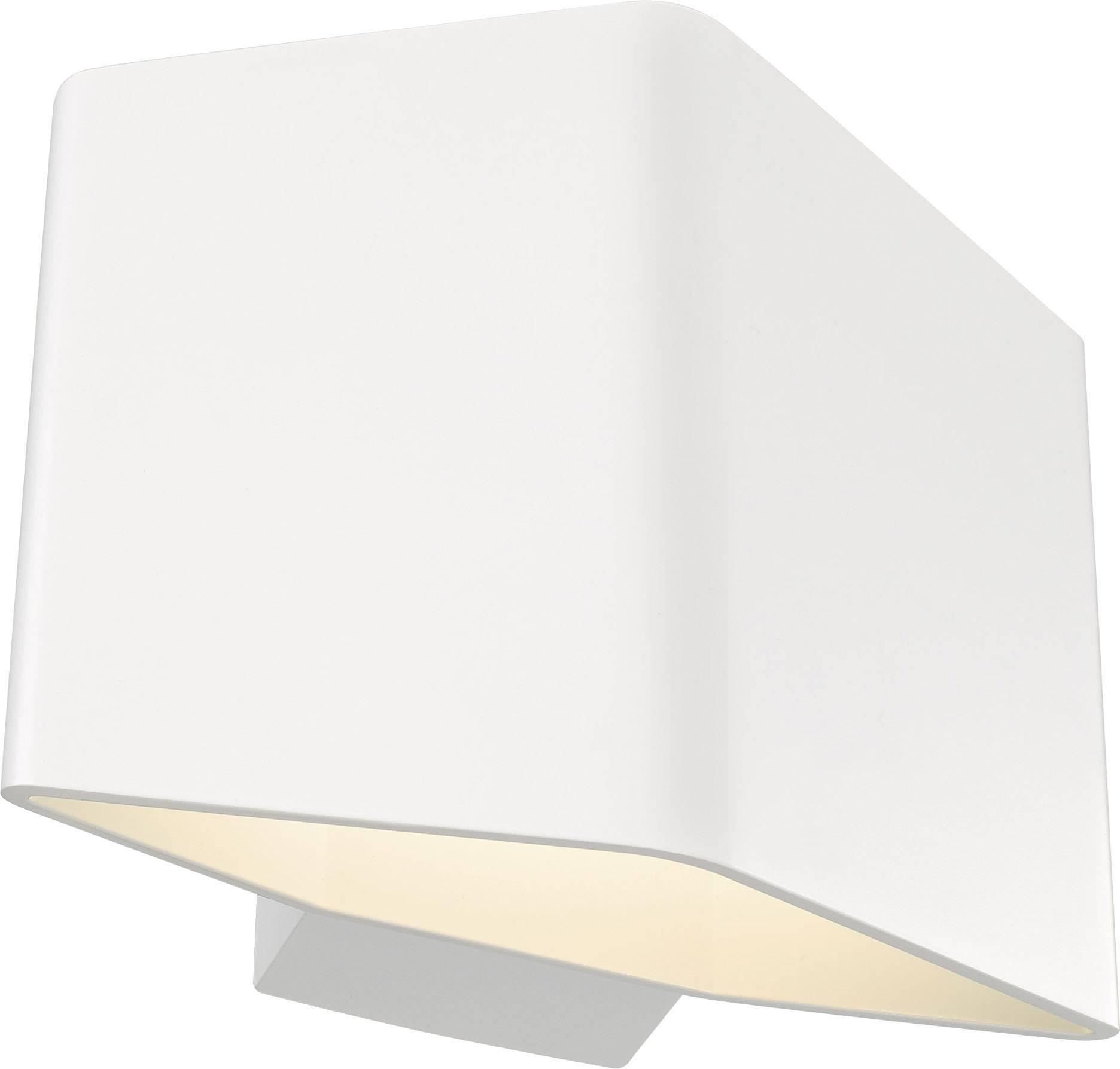LED nástěnné světlo SLV Cariso 1 151701, 7.6 W, teplá bílá, bílá
