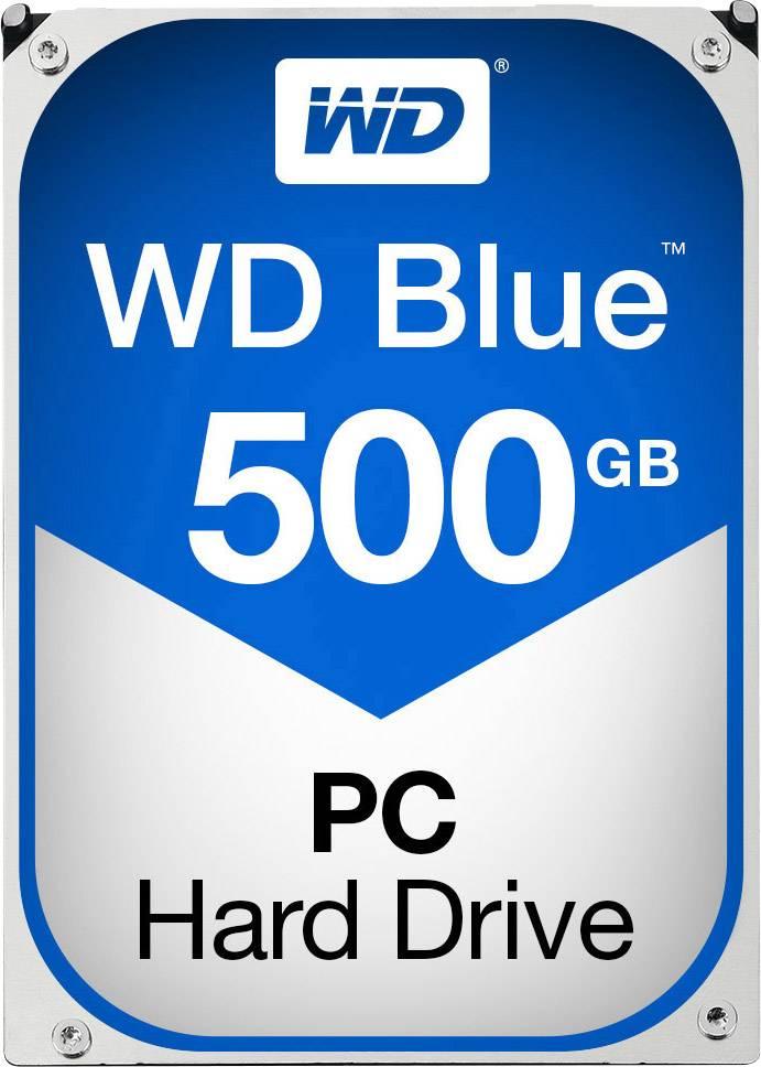 """Recertifikovaný interní pevný disk 8,9 cm (3,5"""") 500 GB Western Digital Blue™ Bulk WD5000AZLX-FR SATA III"""