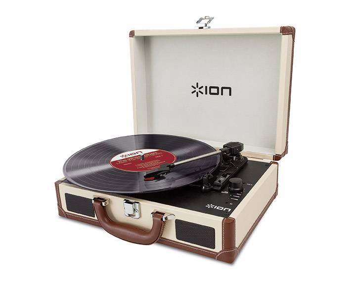 USB gramofon ION Audio VINYL MOTION DELUXE CREAM, řemínkový pohon, krémová