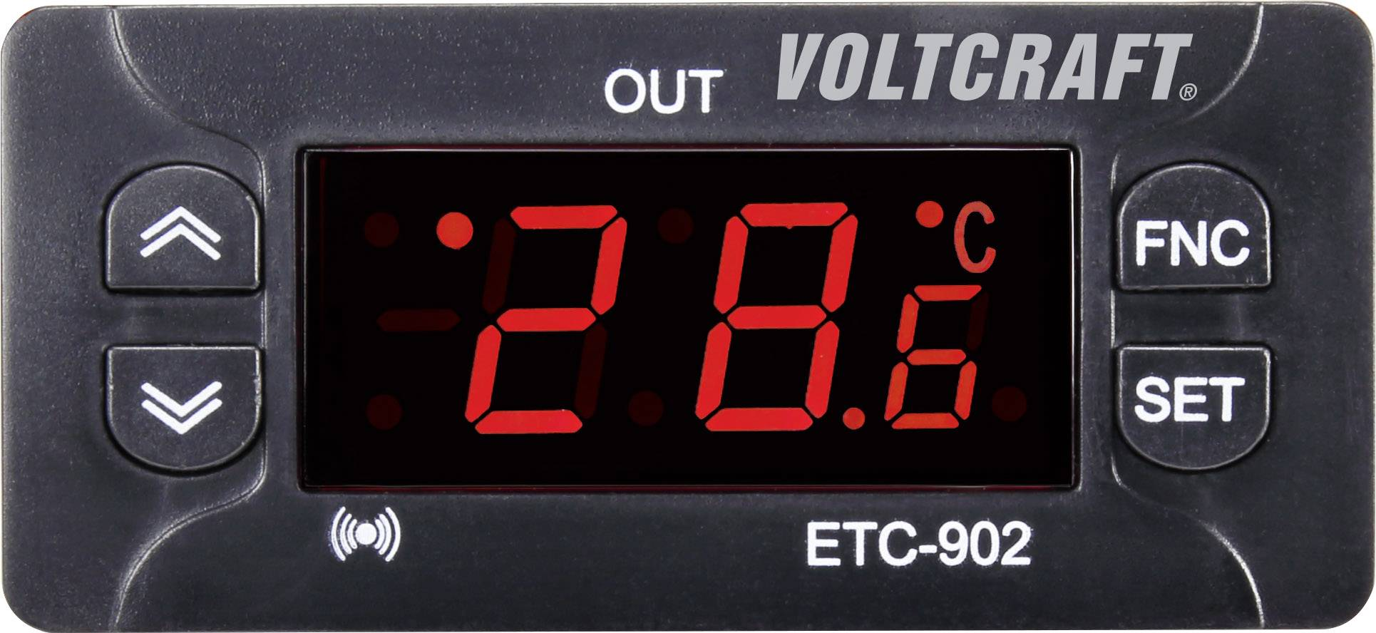 Termostat VOLTCRAFT ETC-902, druh čidla NTC, PTC, -30 do 50 °C