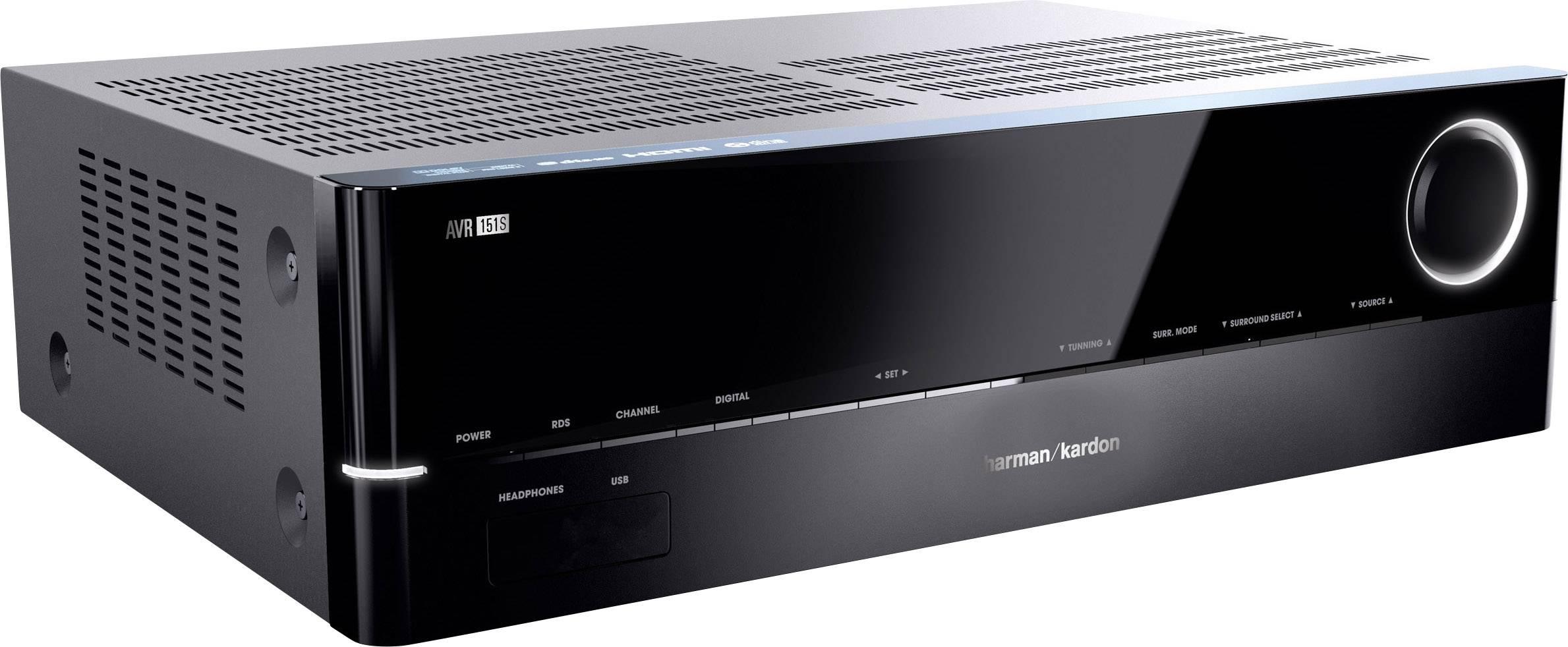 5.1 AV receiver Harman Kardon AVR 151S 5x75 W černá USB