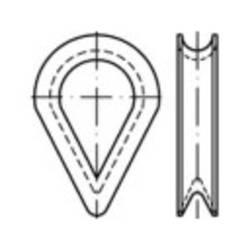 Lanová očnice TOOLCRAFT 138934, N/A, 6 mm, ocel, 100 ks