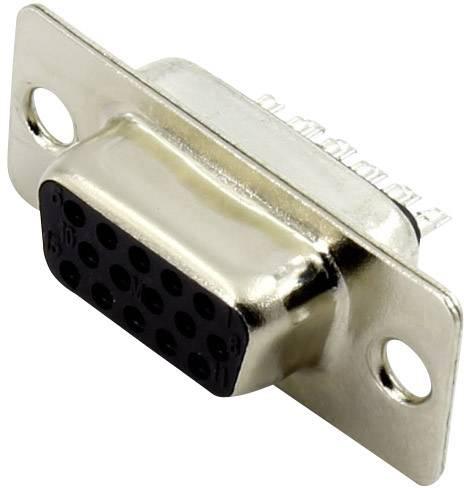 D-SUB zásuvková lišta ASSMANN WSW A-HDF 15 LL/Z, 180 °, počet pinov 15, spájkovaný, 1 ks