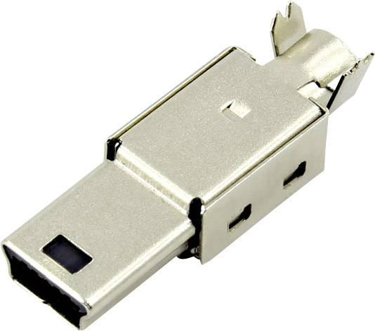 Zástrčka, rovná Connfly DS1105-01-BBN0 1390080, čierna, 1 ks