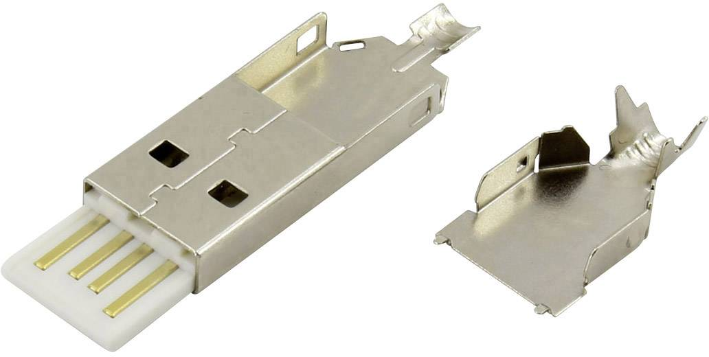 Zástrčka, rovná Connfly N/A 1390126, biela, 1 ks