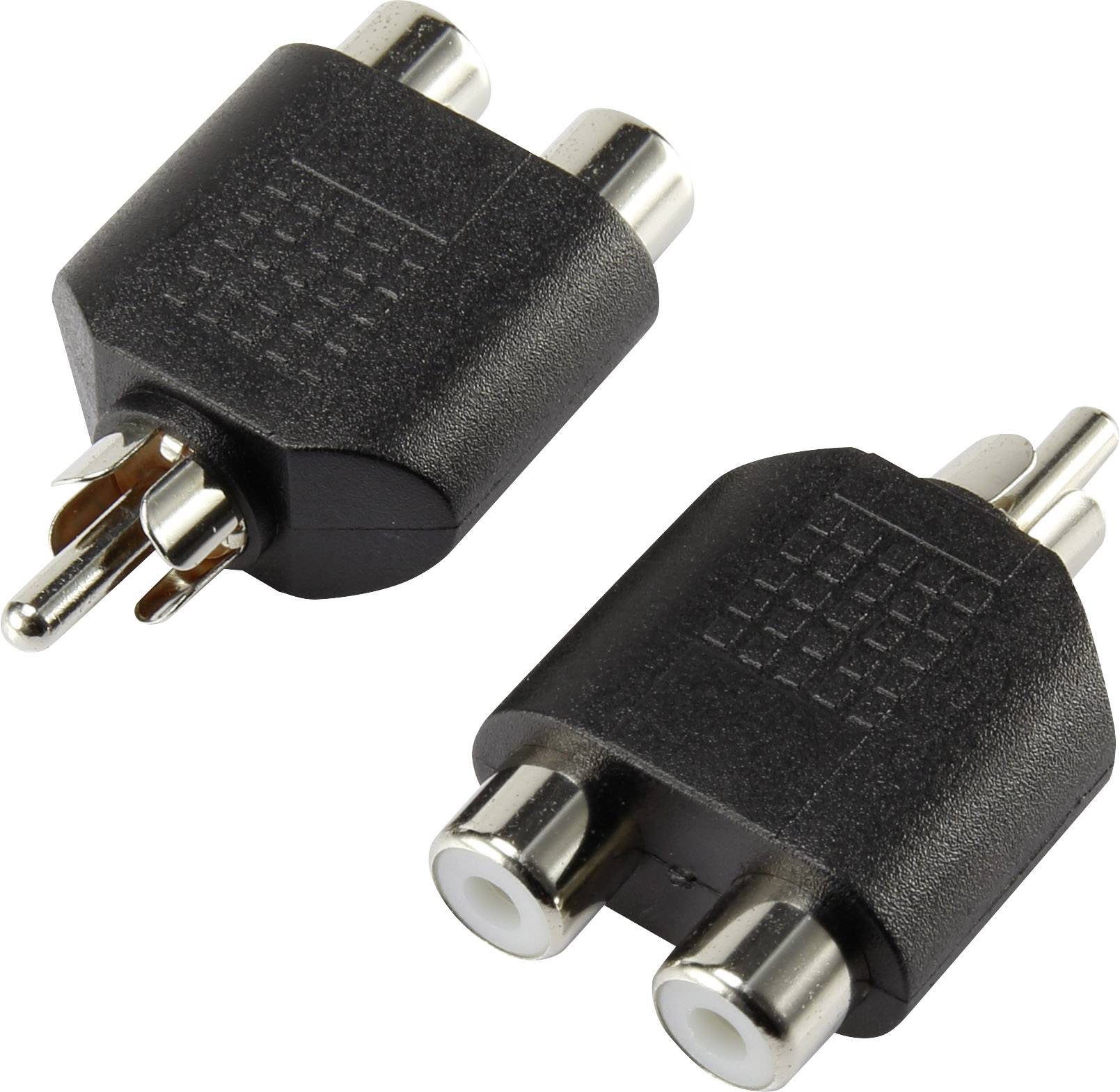 Cinch audio Y adaptér čierna SpeaKa Professional SP-5564192