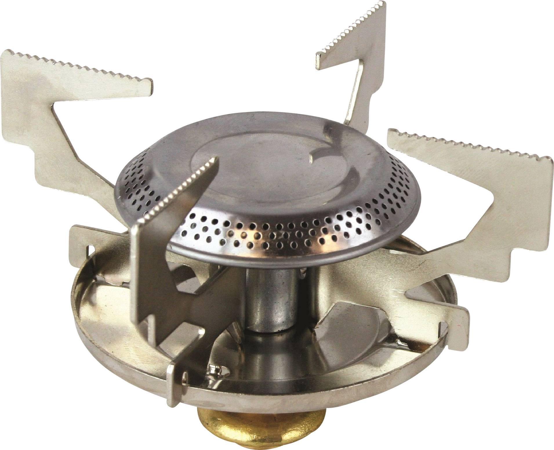 Kempingový vařič Highlander Gaskocher GAS014, nerezová ocel