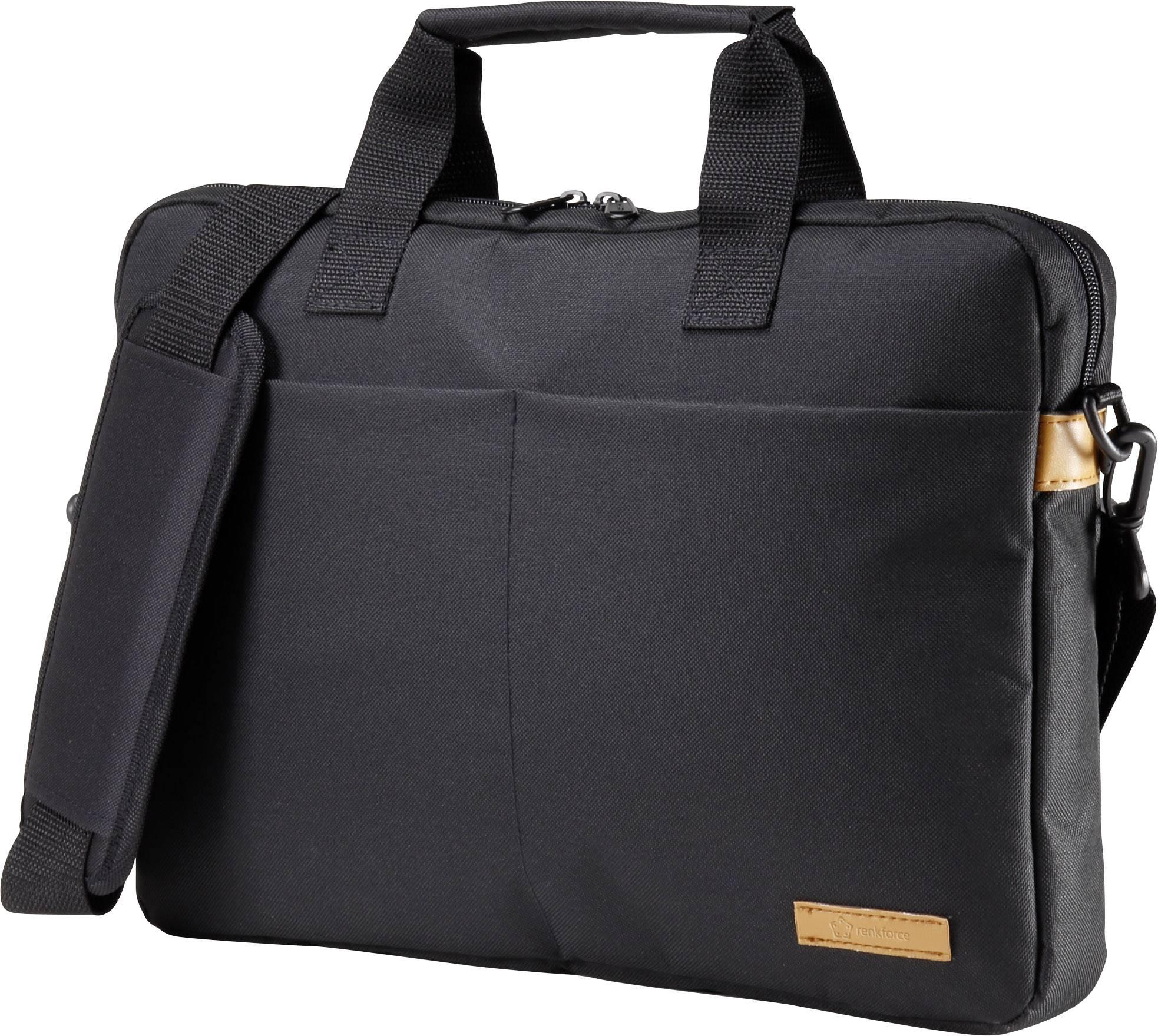 """Taška na notebook Renkforce RF-4174599 s max.veľkosťou: 33,8 cm (13,3"""") , čierna, oranžová"""
