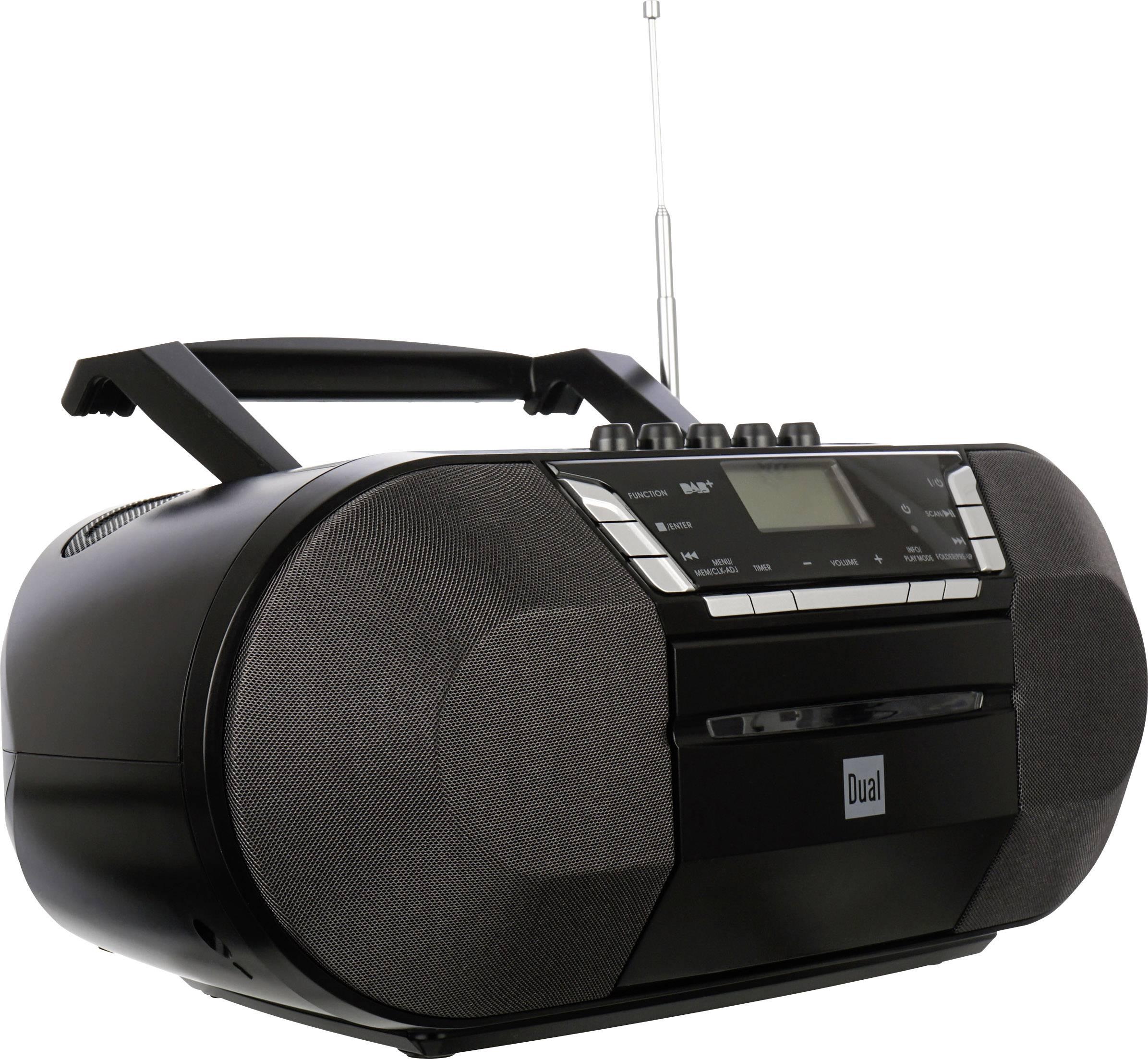 DAB+ a FM rádio s CD/MP3 prehrávačom Dual DAB-P 200, USB, čierna