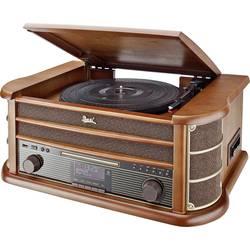 Stereo systém Dual NR 50 DAB, AUX, CD, kazeta, USB, gramofón, dřevo