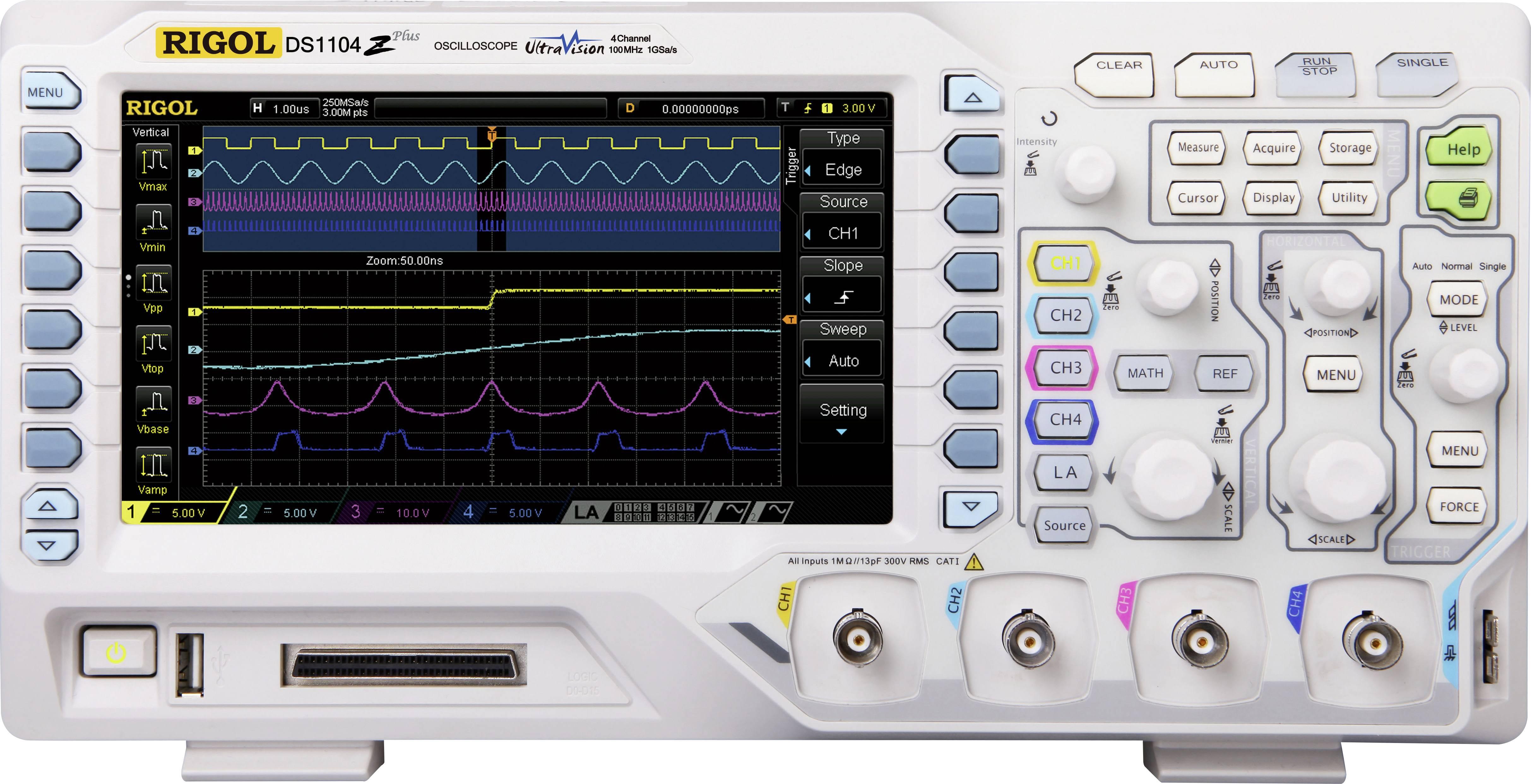 Digitální osciloskop Rigol DS1074Z Plus, 70 MHz, 4kanálový
