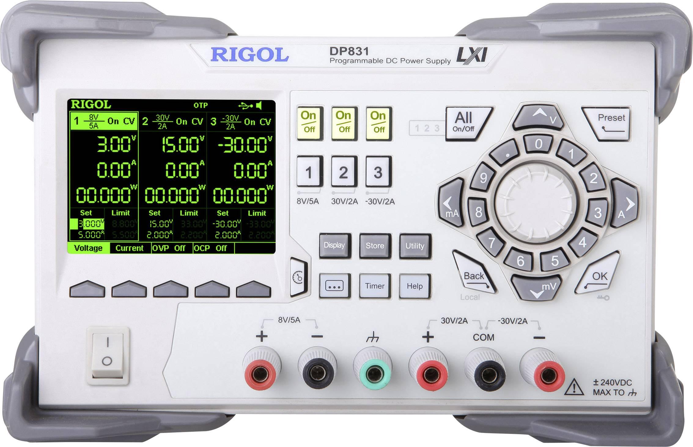 Laboratorní zdroj s nastavitelným napětím Rigol DP831