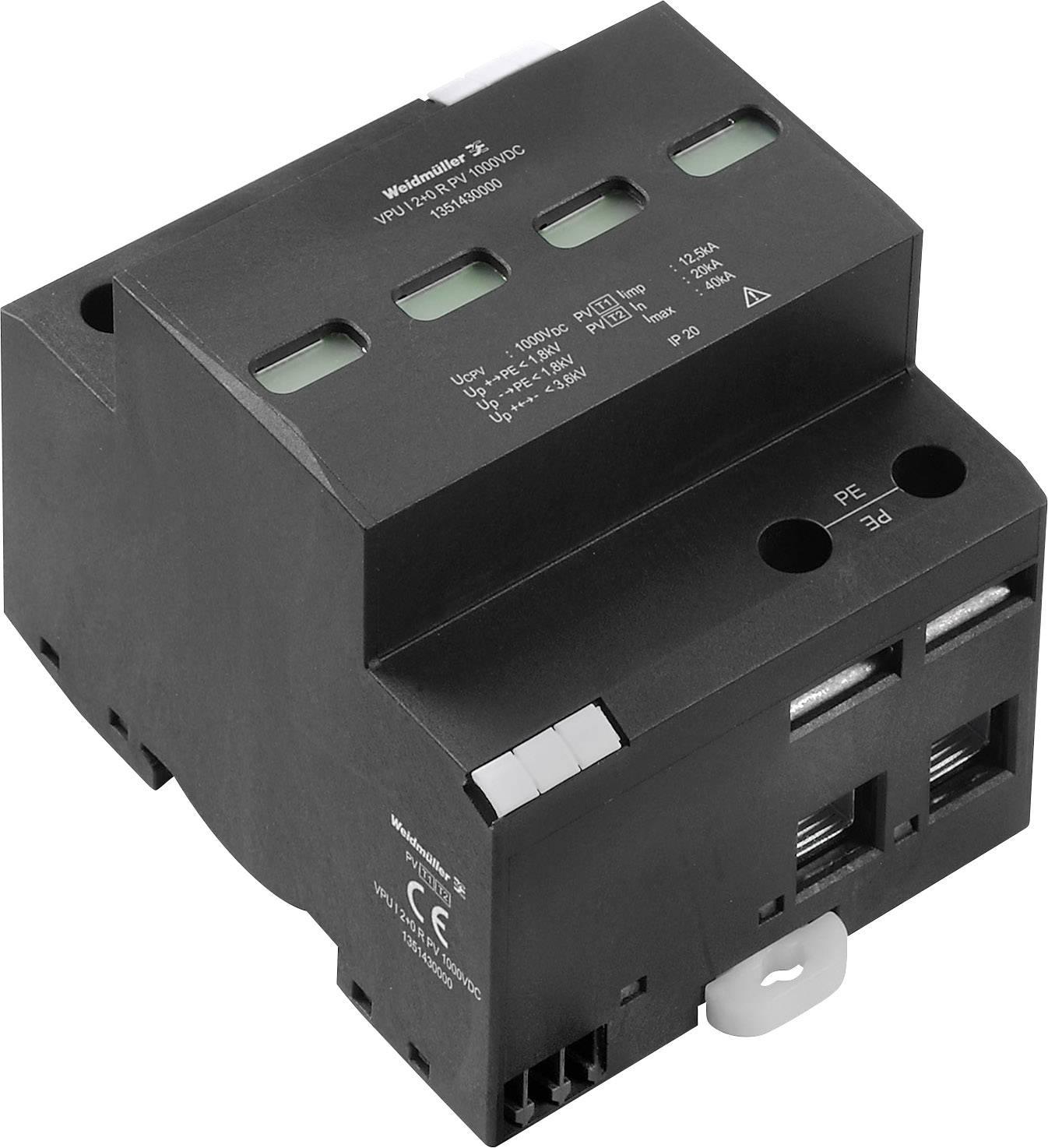 Zvodič pre prepäťovú ochranu Weidmüller VPU I 1 LCF 280 V/35 kA 1351350000, 35 kA