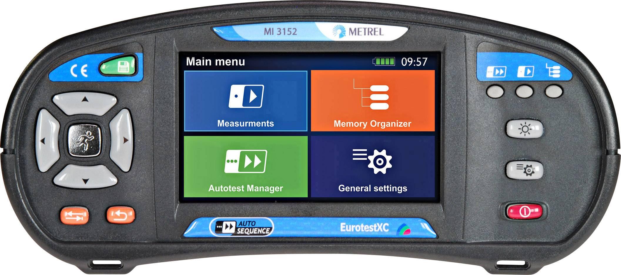 VDE tester Metrel EUROTEST XC 20992434, kalibrácia podľa ISO