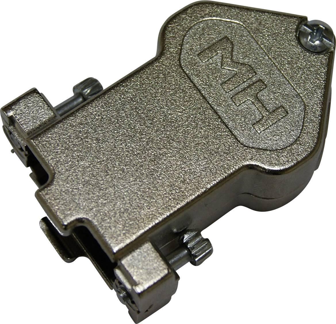 D-SUB púzdro MH Connectors MHDU45ZK15-K MHDU45ZK15-K, Počet pinov: 15, poniklovaná, 45 °, niklová, 1 ks