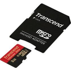 Paměťová karta microSDHC, 8 GB, Transcend Ultimate (600x), Class 10, UHS-I, vč. SD adaptéru