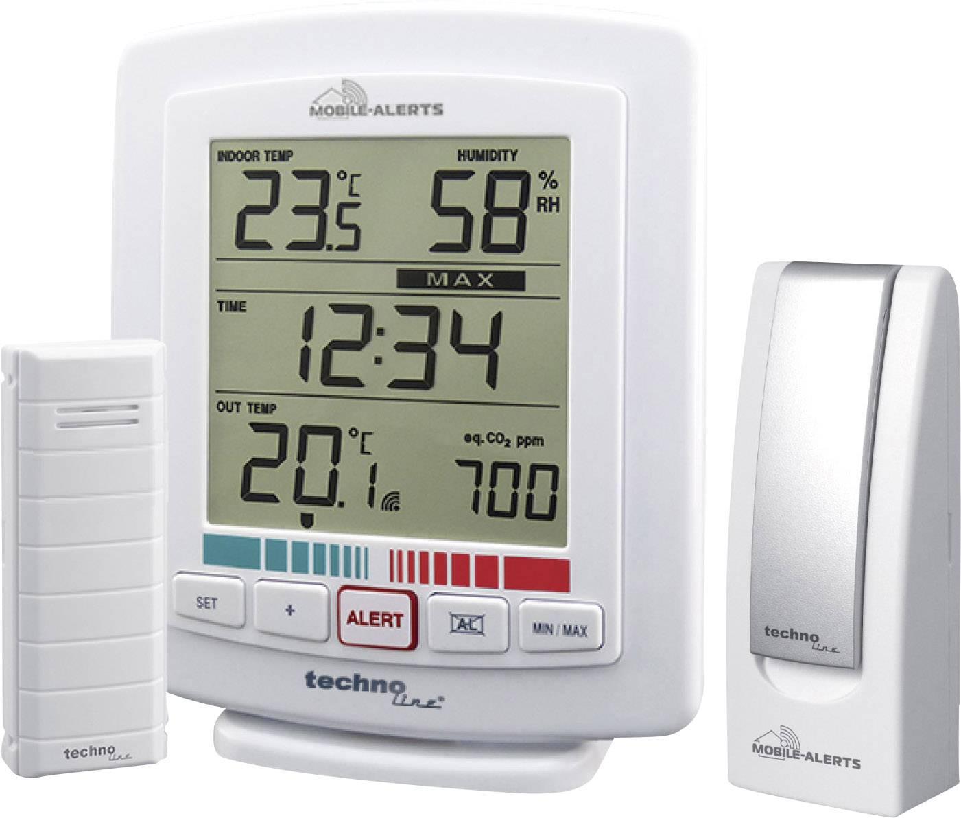Bezdrôtový teplomer a vlhkomer so senzorom kvality ovzdušia Techno Line MA 10005 Mobile Alerts , vr. gateway
