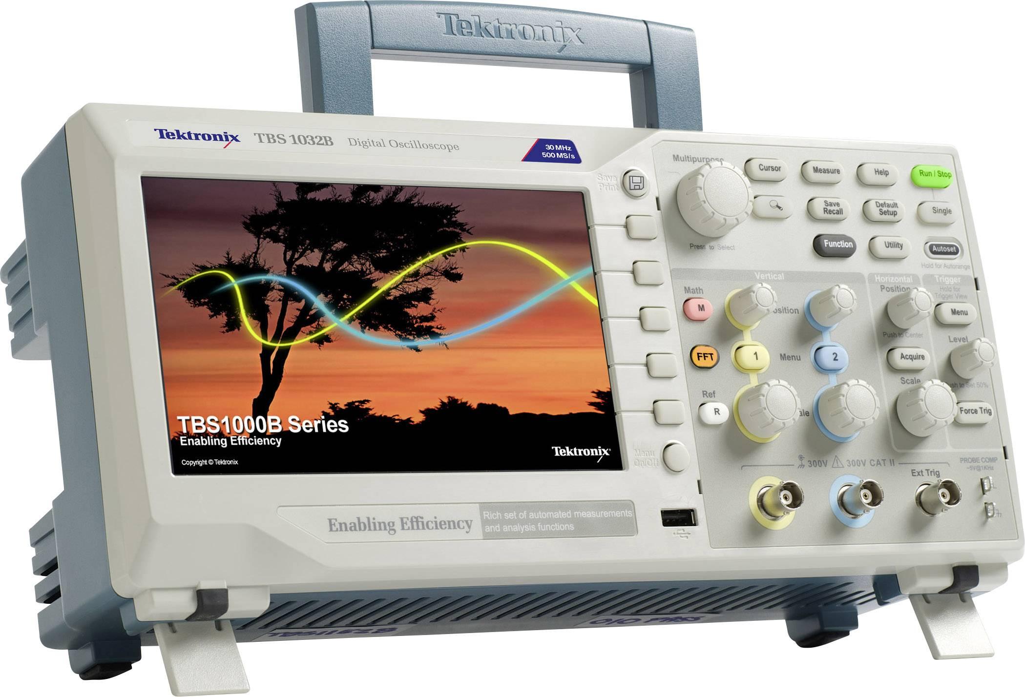 Digitální osciloskop Tektronix TBS1032B, 30 MHz, 2kanálový, Kalibrováno dle ISO
