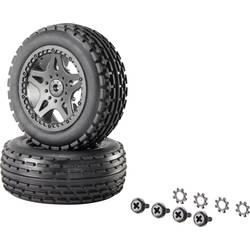 Kompletné kolesá Multipin Reely 12036+12618 pre buggy, 75 mm, 1:10 XS, 1 pár, čierna