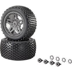 Kompletné kolesá Multipin Reely 12039+12618 pre buggy, 75 mm, 1:10 XS, 1 pár, čierna