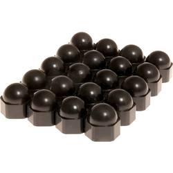 Čepičky pro šrouby kol HP Autozubehör 82728, 17 mm, černá, plast