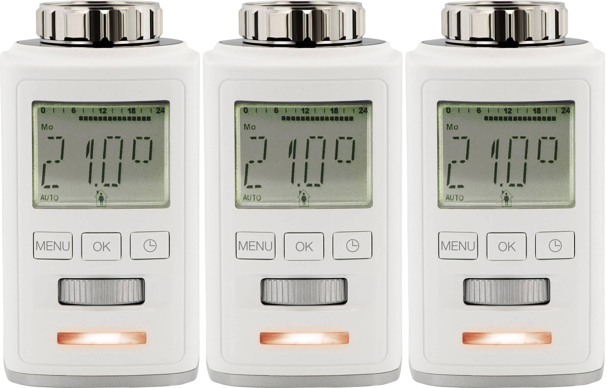 Radiátorová termostatická hlavica Sygonix HT100, 8 do 28 °C, sada 3 ks