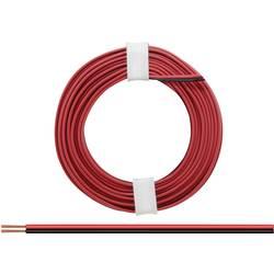 Opletenie / lanko BELI-BECO 2 x 0.14 mm², červená, čierna, 5 m