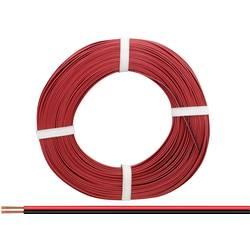 Opletenie / lanko BELI-BECO 2 x 0.14 mm², červená, čierna, 50 m