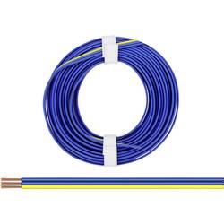Opletenie / lanko BELI-BECO 3 x 0.14 mm², modrá, žltá, 5 m