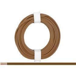 Opletenie / lanko BELI-BECO 2 x 0.14 mm², hnedá, 5 m