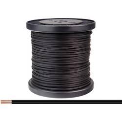 Opletenie / lanko BELI-BECO 2 x 0.14 mm², čierna, 100 m