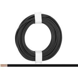 Opletenie / lanko BELI-BECO 2 x 0.14 mm², čierna, 5 m