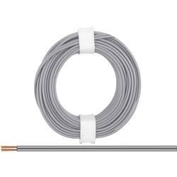 Opletenie / lanko BELI-BECO 2 x 0.14 mm², sivá, 5 m