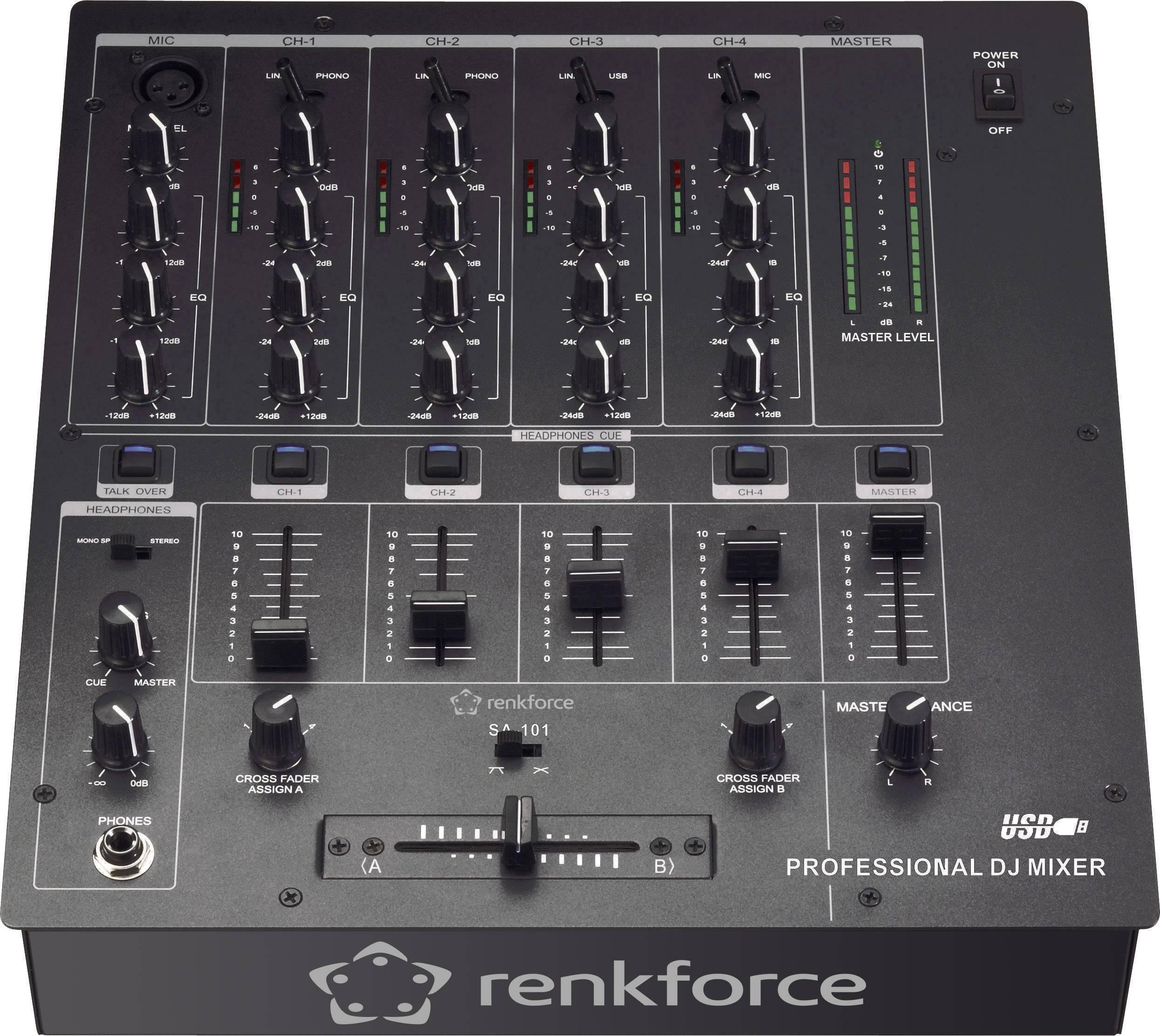 DJ mixážny pult RENKFORCE SA-101U, USB