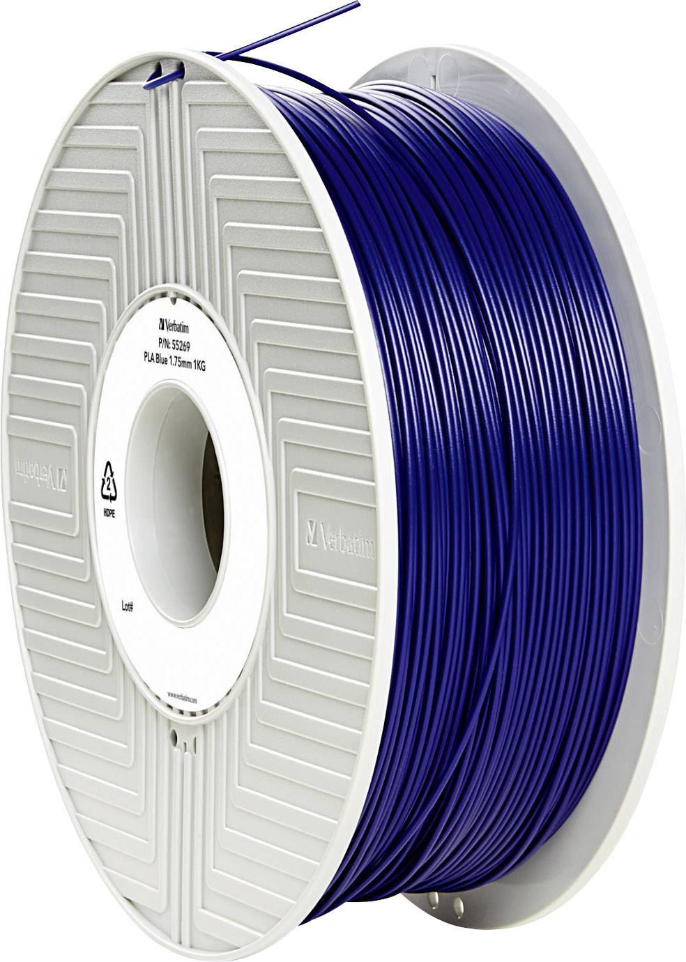 Vlákno pro 3D tiskárny Verbatim 55269, PLA plast, 1.75 mm, 1 kg, modrá