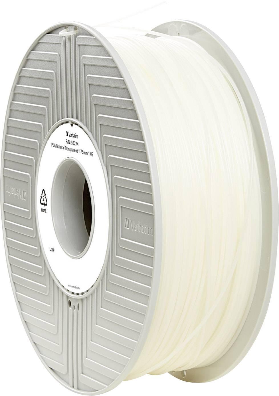 Vlákno pro 3D tiskárny Verbatim 55274, PLA plast, 1.75 mm, 1 kg, transparentní