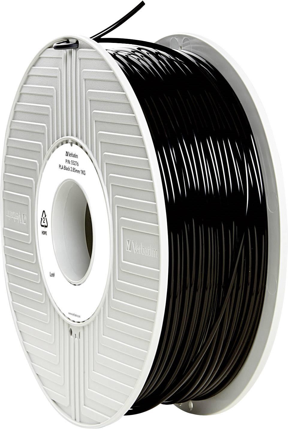Vlákno pro 3D tiskárny Verbatim 55276, PLA plast, 2.85 mm, 1 kg, černá