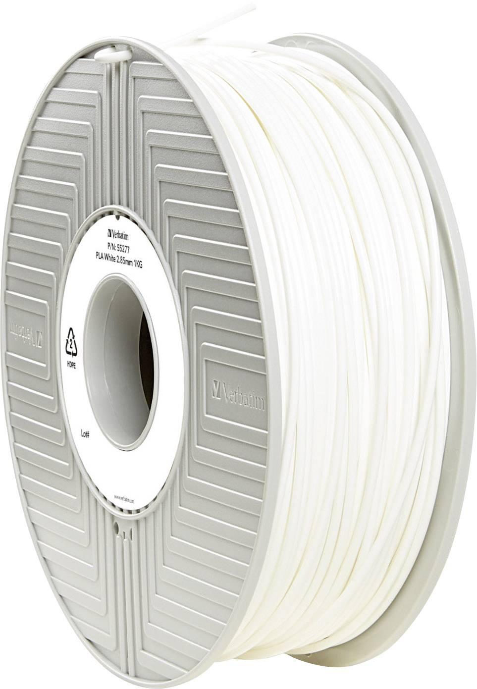 Vlákno pro 3D tiskárny Verbatim 55277, PLA plast, 2.85 mm, 1 kg, bílá