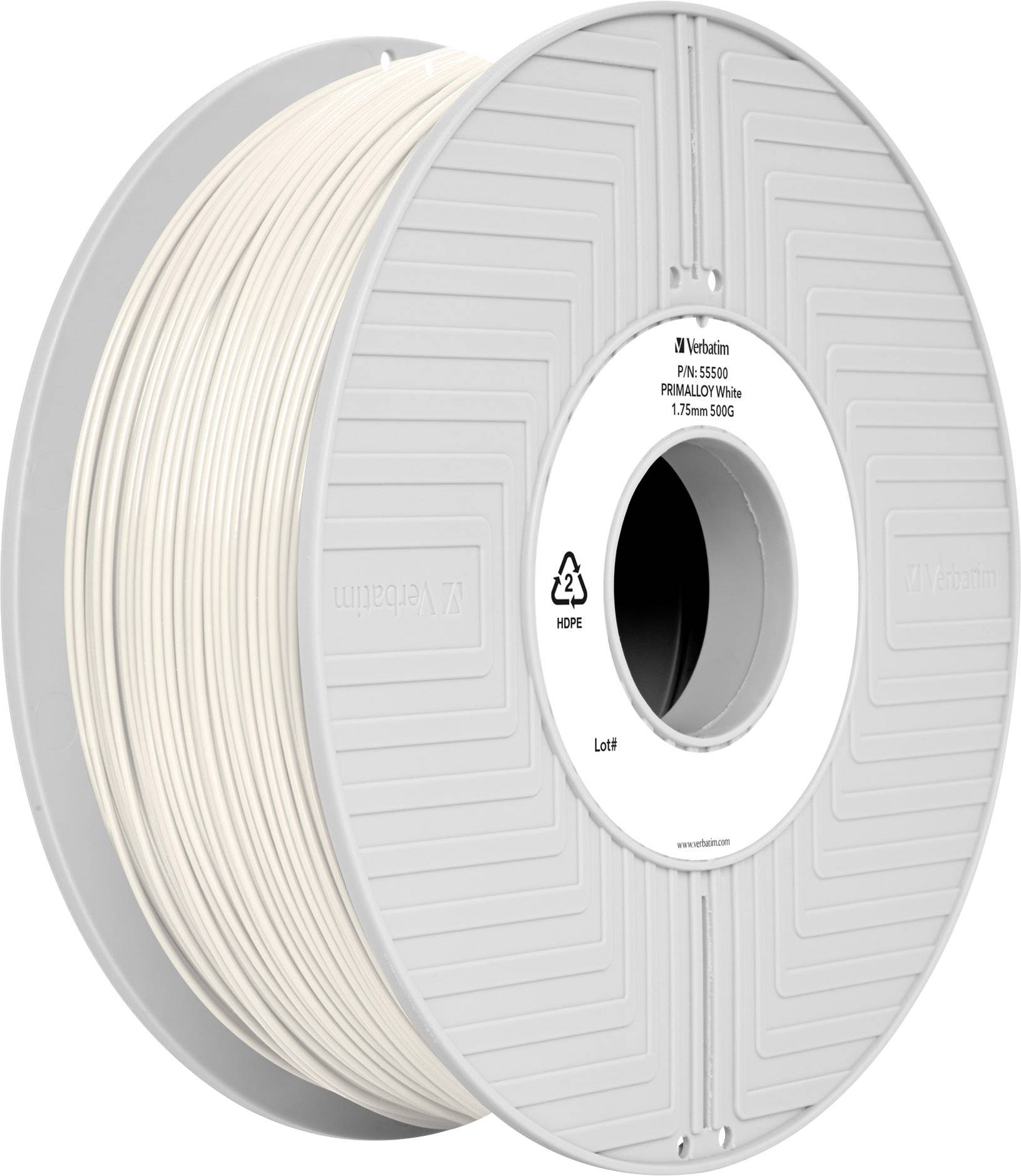 Vlákno pro 3D tiskárny Verbatim 55500, TPE plast, 1.75 mm, 500 g, bílá